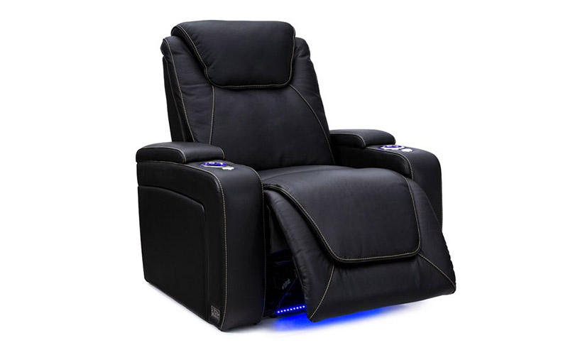Seatcraft Pantheon Big & Tall Gaming Couch with Power Recline and SoundShaker